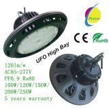 100With120With150With200With250W LED hohe Bucht-Licht UFO-Form 120lm/W PF0.9 AC85-277V