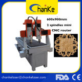 Macchina mini del tornio di CNC per il legno Ck6090 di vetro e del metallo
