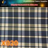 ¡Tela de la verificación del poliester en existencias! Materia textil colorida de la verificación para la ropa (X018-20)