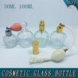 bottiglia di profumo di vetro cosmetica della radura di figura della parte superiore di 50ml 100ml