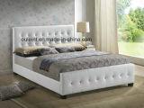 Плоские фо ткань из натуральной кожи кровать спальня Домашняя мебель