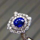 Fashion 925 Silver avec anneau ovale de zircon cubique de coupe