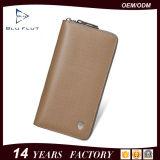 مصنع بالجملة عالة علامة تجاريّة حقيبة يد رجال جلد محفظة طويلة