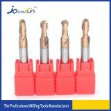 Flauta contínua de Endmills 2 do carboneto de tungstênio para o cobre