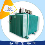 Transformador eléctrico inmerso en aceite trifásico