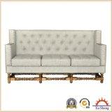 Assento secional estofado do sofá do topete do sofá da sala de visitas da mobília tela de linho Home