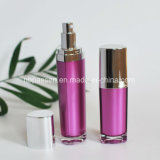 bottiglia acrilica viola 15/50ml con la pompa della lozione per le estetiche (PPC-NEW-094)
