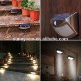 Iluminación al aire libre impermeable 8LED PIR sensor de movimiento de luz de la pared luz solar paso