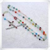 Деревянный Rosary, стеклянный Rosary, Rosary перлы, Rosary легирующего металла, Rosary гематита, пластичная синь отбортовывает Rosary (IO-cr046)