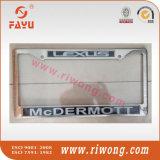 Etiqueta de encargo del logotipo de la motocicleta del cromo cubierta de la licencia de la placa