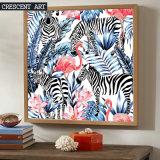 Flores da imagem da zebra do flamingo dos animais d