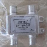 5-2400 divisore di modi di megahertz 2, 2 divisore di modo di modo Splitter/4 per tv via cavo, 2 divisore del satellite di modo 5-2500MHz