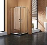 Double pièce jointe encadrée de douche de portes coulissantes de forme carrée/compartiment de douche