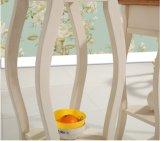 Stand de flor circular simples de madeira maciça