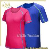 L'ajustement sec de polyester fait sur commande de Mens folâtre des T-shirts pour des couples