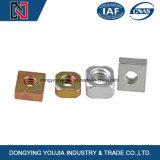 Noix carrées d'acier du carbone de DIN557 DIN562 avec galvanisé