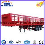 熱い販売の三車軸家畜及び農場の商品のキャリアの棒のトラックユーティリティトレーラー