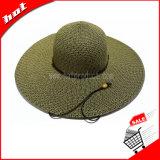 Grande plano rasante Chapéu de Palha do papel da Sun Mulher Disquete Hat