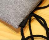 Sac de sac à dos de cordon de jute de coton de promotion