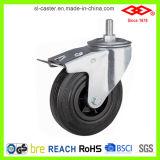 Черное резиновый промышленное колесо рицинуса (P101-31D075X25S)
