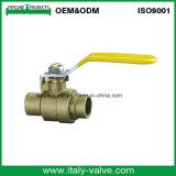 La qualità personalizzata ha forgiato la valvola a sfera bassa dorata con la maniglia (IC-1061)