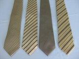Cor de ouro com listra Larga amarras de moda masculina