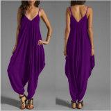 Pantaloni siamesi del taglio di colori sexy bassi dell'abito per i vestiti della donna