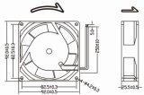 산업 설비를 위한 92mm 92X92X25.5mm AC 팬
