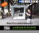 Wellcampのフラットパックのプレハブの容器の家