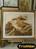 Pintura do ferro da figura/paisagem/flor/ainda da vida/animal 3