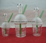 Tubulação de água de vidro de venda quente do copo de café de 2016 Starbucks para fumar