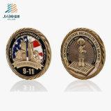 Pièce de monnaie militaire de médaillon d'enjeu de souvenir en métal de l'antiquité 3D de logo fait sur commande d'émail
