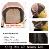 Menschlicher blonder Remy Haar-Karosserien-Wellen-Typ Silk oberste volle Spitze-Perücken
