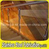 Do balcão interno da escada do aço inoxidável de Customed trilhos de vidro