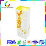 Caja de embalaje del papel cosmético delicado del color
