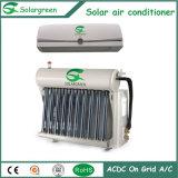Climatiseur solaire de courant ascendant d'installation facile/hybride d'énergie/pouvoir