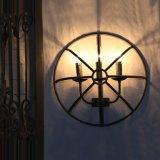 Barra a cristallo americana della lampada da parete dalle tre candele del vento del ferro saldato della lampada industriale della gabbia retro [codice categoria a++ di energia]
