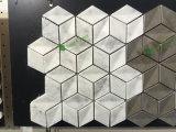 Poetste het Witte Marmer van Carrara Hexagon Tegel van het Mozaïek op