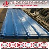 Telhado ondulado galvanizado da cor da folha de metal