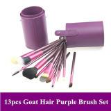 13pcs maquillaje profesional Brush set con soporte de color púrpura caso (HERRAMIENTA-43)