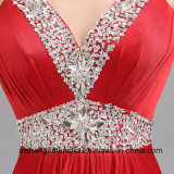 Longue robe de soirée de V-Collet sexy A élégant en cristal - ligne robe de bal d'étudiants