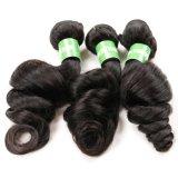 com cabelo humano indiano não processado de Remy do cabelo frouxo cheio do Virgin da onda da cutícula