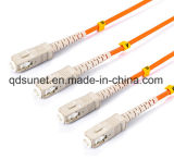 Sc/UPC de mm de fibra óptica dúplex latiguillo
