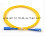 Fibre optique recto uni-mode Patchcord de Sc/Upc