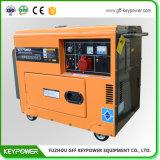 Groupe électrogène jaune d'essence de couleur