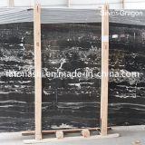 Естественный каменный черный мрамор для верхней части тщеты/верхней части/пола кухни