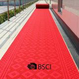 Tappeti rossi pesanti spessi di lusso della pavimentazione non di pattino di slittamento antiscorrimento non