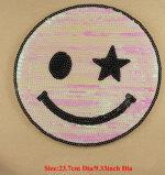 衣類のためのEmojiパッチはモチーフのアップリケのバッジパッチのブラウスのTシャツのパッチワークの装飾のアクセサリを刺繍した
