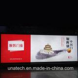 壁の台紙の屋外の給油所の屋内広告媒体LEDのスクローリング旗の印刷のライトボックス