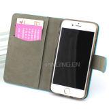 Las ranuras de tarjeta monedero de cuero Flip Stand Case para iPhone 6/6s